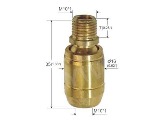 Commercial Lighting Raw Brass Universal Joint Custom Color Plated With Wing Nut