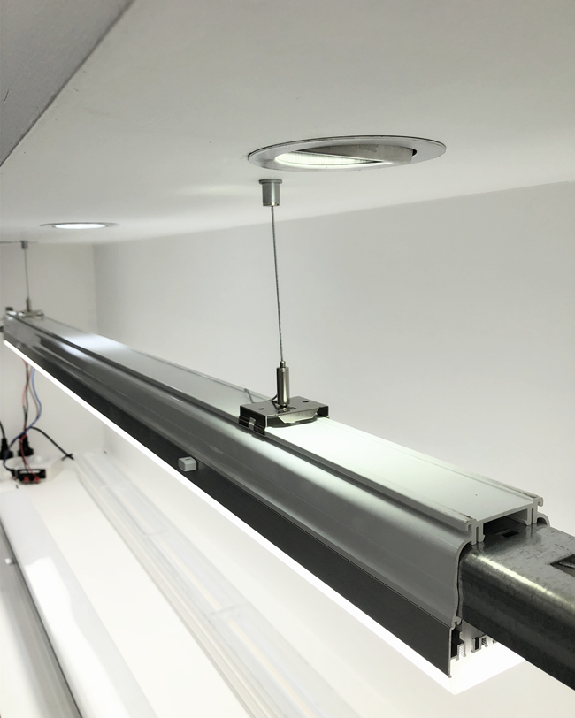 Suspended Linear Lighting Kits LED Panel Suspension Kit With Bracket