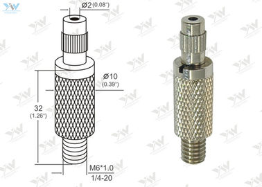 China Φ10mm Brass Material Grip Lock Cable Grippers Nickel Finishing With  Security Cap supplier