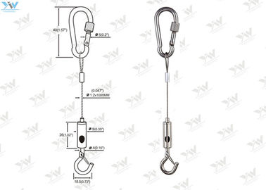 China Sign Installation Companies Art Hanging Systems Mounting Kit Wire Length Adjustable supplier
