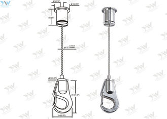 China Self Gripping Hook Gallery Hanging System Adjustable With 304 Stainless Steel Wire supplier