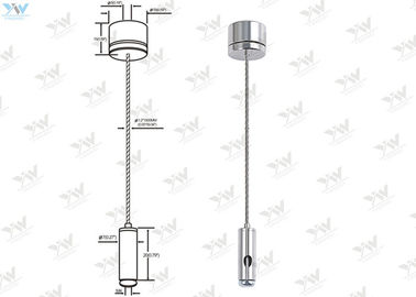 China Compact Design Light Suspension Kit 30 KG Safe Working Load For Hang Panel Lights supplier