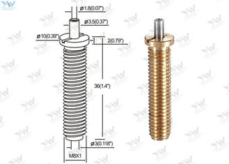 China Precision M 8 Fully Threaded Brass Cable Gripper / Aircraft Cable Adjustable Fittings supplier