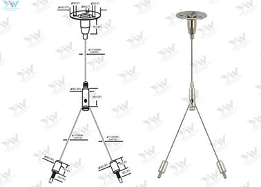 China Cross Cable Aquarium Light Hanging Kit / Wire Suspension Systems Mounting Accessory supplier