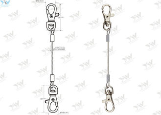 China Stainless Steel Cable LED Panel Suspension Kit / Wire Hanging System With Snap Hooks supplier