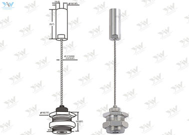 China Adjustable Wire Suspension Kit / Brass Cable Gripper With Nuts Ceiling Attachment supplier