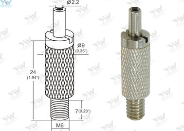China Brass Material Aircraft Cable Grippers / Wire Cable Grippers With M 6 Male Thread supplier