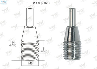 China Small Brass Cable Gripper Chrome Finish Color For Use Of Ø 0.8 ~1.2 Mm Wire supplier