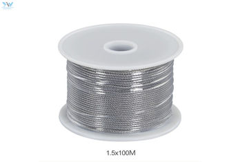 1.5 mm x 100 Meters 304 Stainless Steel Uncoated Wire Rope In Reel