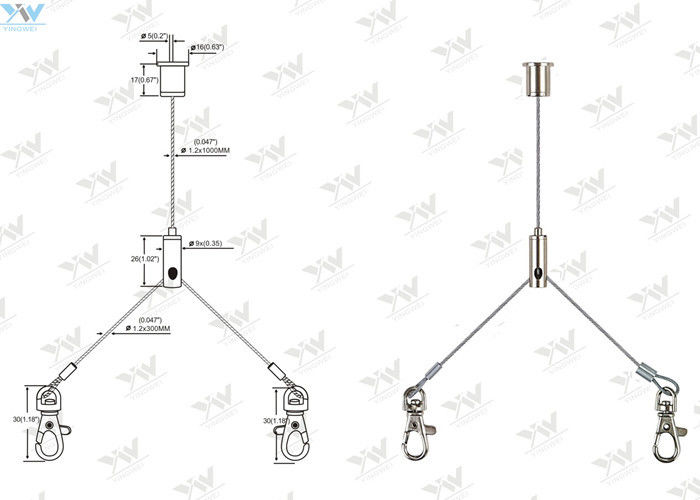 flexible aircraft cable suspension systems y