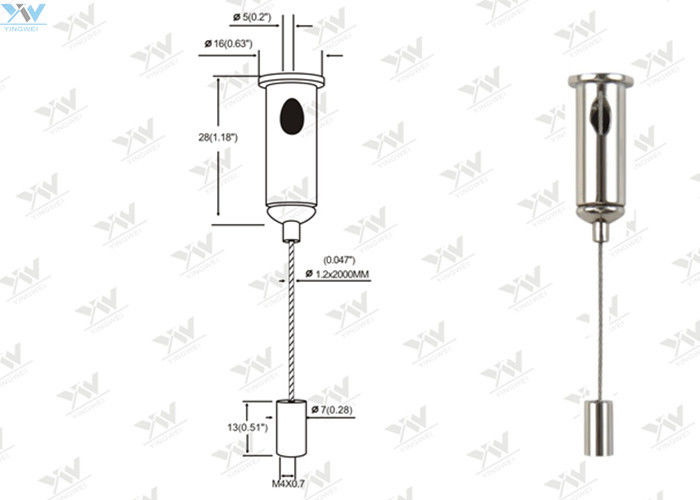 Adjustable Hanging Kits Suspension Wire Light Fittings