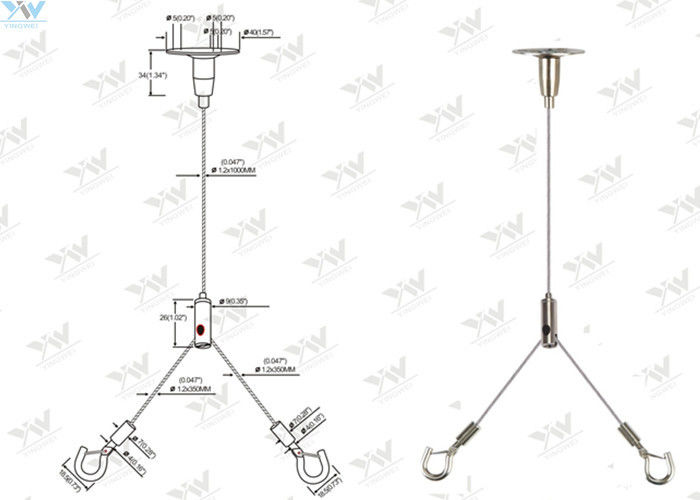 600 Mm X 600 Mm Ceiling Light Suspension Kit Y Type