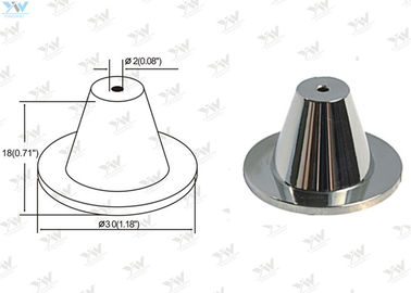 Chrome Finished Ceiling Cable Hanging System Brass Ceiling Mounting Base