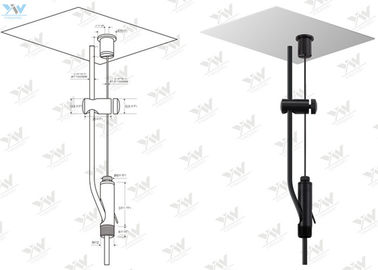 Power Feed Steel Wire Hanging Systems With Cable Holder Applied Linear Light