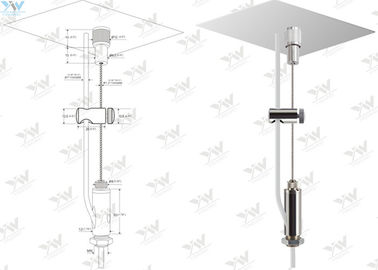 Feed Steel Cable Suspended Wire Lighting Kit For Aluminium Profiles