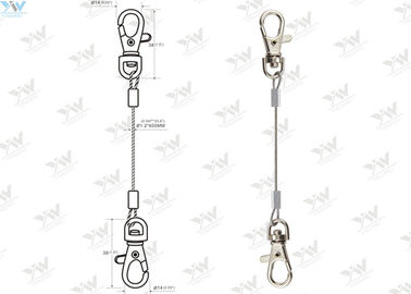 Stainless Steel Cable LED Panel Suspension Kit / Wire Hanging System With Snap Hooks