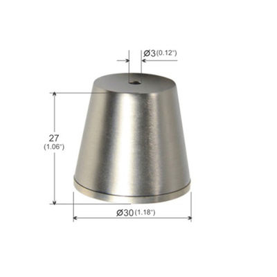 Ceiling Attachment  Cylindrical trapezoidal Brass Plated Nickel YW86278